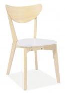 Jedálenská stolička CD-19 biela / dub