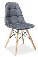 Jedálenská stolička AXEL III sivá aksamit / buk
