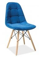 Jedálenská stolička AXEL III modrá aksamit / buk