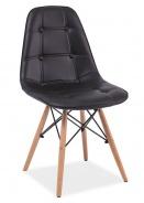 Jedálenská stolička AXEL čierna