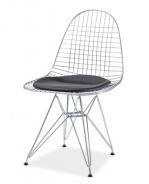 Jedálenská stolička INTEL I chróm / čierna