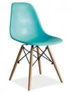 Jedálenská stolička ENZO morská
