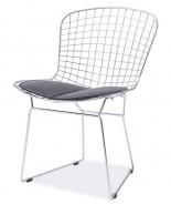 Jedálenská stolička FINO chróm / čierna