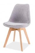 Jedálenská stolička DIOR dub / svetlosivá
