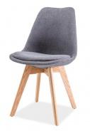 Jedálenská stolička DIOR dub / tmavo šedá