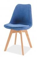 Jedálenská stolička DIOR buk / modrá