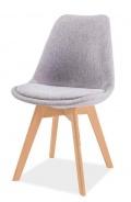 Jedálenská stolička DIOR buk / svetlosivá