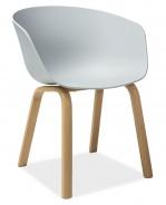 Jedálenská stolička EGO sivá / dub
