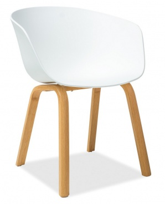 Jedálenská stolička EGO biela / dub