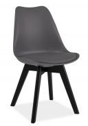 Jedálenská stolička KRIS II sivá / čierna