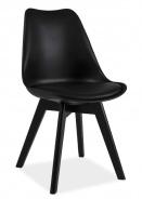 Jedálenská stolička KRIS II čierna / čierna