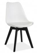 Jedálenská stolička KRIS II biela / čierna