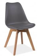 Jedálenská stolička KRIS sivá / dub