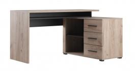 Písací stôl s kontajnerom Timmy - dub šedý/čierna