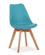 Jedálenská stolička KRIS modrá / buk