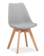 Jedálenská stolička KRIS svetlo šedá / buk