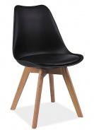 Jedálenská stolička KRIS čierna / buk