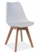 Jedálenská stolička KRIS biela / buk