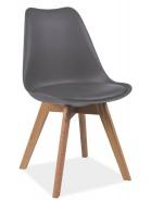 Jedálenská stolička KRIS sivá / buk
