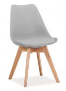 Jedálenská stolička KRIS svetlo šedá / dub
