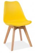 Jedálenská stolička KRIS žltá / dub