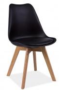 Jedálenská stolička KRIS čierna / dub