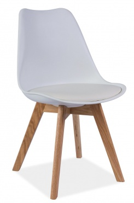 Jedálenská stolička KRIS biela / dub