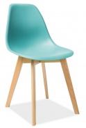 Jedálenská stolička MORIS mentolová / buk