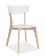 Jedálenská stolička TIBI biela / dub