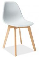 Jedálenská stolička MORIS svetlo šedá / buk