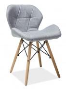 Jedálenská stolička MATIAS II sivá látka