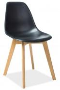 Jedálenská stolička MORIS čierna / buk