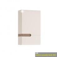 Skrinka horná, P prevedenie, biela, extra vysoký lesk, LYNATET TYP 157