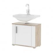 Skrinka pod umývadlo, dub sonoma / biela pololesk, Less LI 02