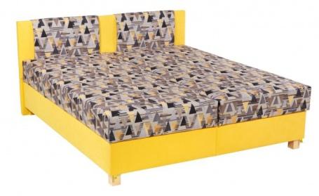Čalúnená posteľ KLAUDIE 160,180x200 s úložným priestorom