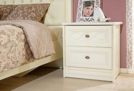 Nočný stolík Jasmine - krémová