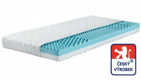 Sendvičový matrac Odette - 2 tuhosti - trojvrstvový antibakteriál. poťah - 7 zón