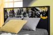Posteľ s roštom Hero 120x200cm - biela/čierna/žltá