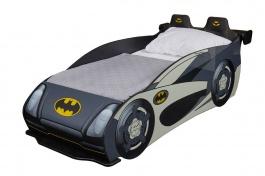 Detská posteľ auto Hero 80x160cm - biela/čierna/žltá