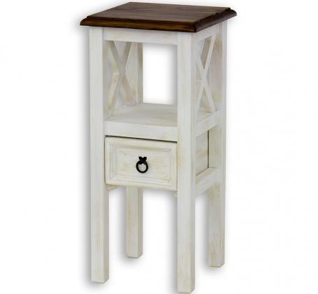 Drevená stolička so zásuvkou MES 10 - výber morenia