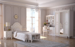 Detská izba pre dievča Margaret - alabaster/zelená/champagne