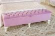 Čalúnená lavica Comtesa - alabaster/fialová