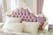 Študentská posteľ s roštom Comtesa 120x200cm - alabaster/fialová