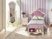 Detská posteľ s roštom Comtesa 90x200cm - alabaster/fialová