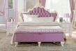 Manželská posteľ s roštom Comtesa 160x200cm - alabaster/fialová