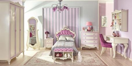Detská izba Comtesa - alabaster/fialová