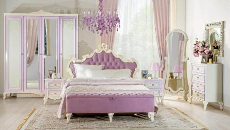 Spálňa Comtesa I - alabaster/fialová