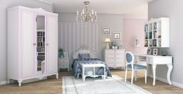Dievčenská izba Comtesa - alabaster/fialová/champagne