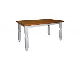 Jedálenský sedliacky rustikálny stôl z masívneho dreva 90x160cm MES 01B - výber morenia
