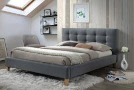 Čalúnená posteľ Texas 140x200cm - šedá